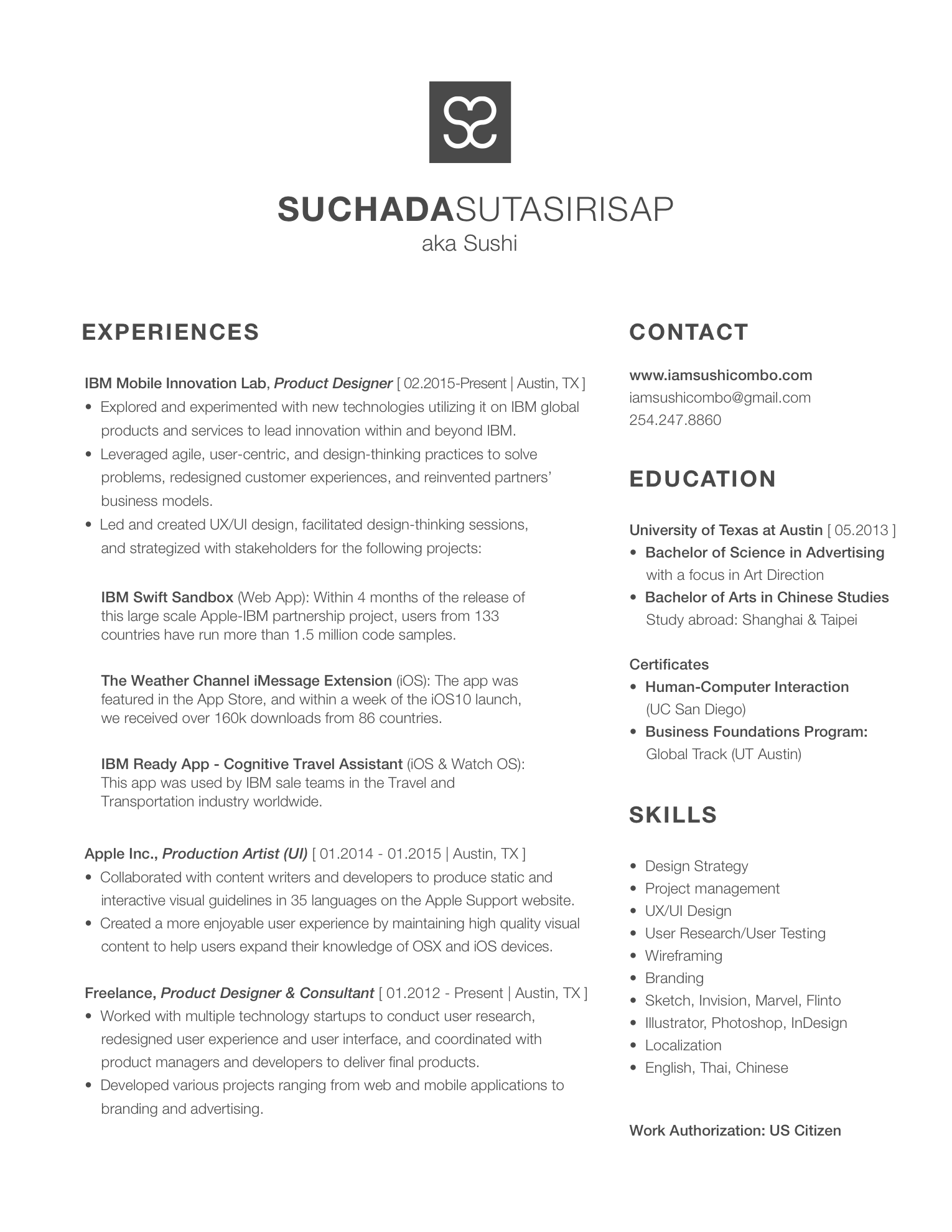 sushi s portfolio website resume resume 2017 new